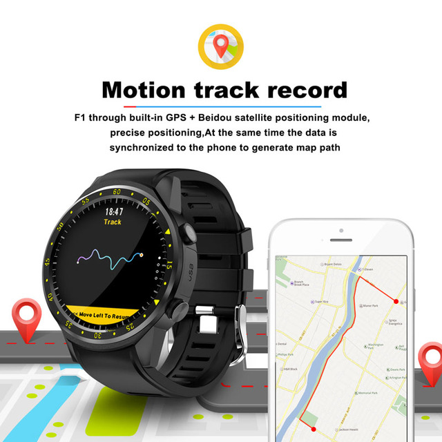F1 Smart watch GPS watch Heart Rate tracker men smartwatch Multi-sport Mode SIM Card Pedometer for Android Ios Phones 2