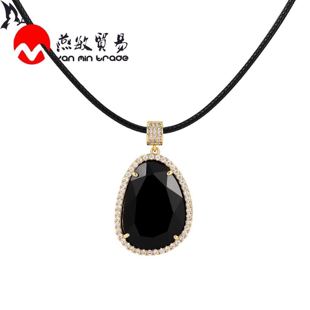 Fashion K9 Crystal Glass Pendant Necklace 11color Cubic Zircon Gold Pendants Women Necklace 2020 Luxury Jewelry