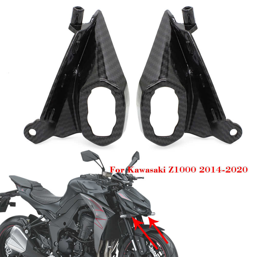 Front Suspension Panel Farings Carbon Covers L/&R For Kawasaki Z1000 2010-2013