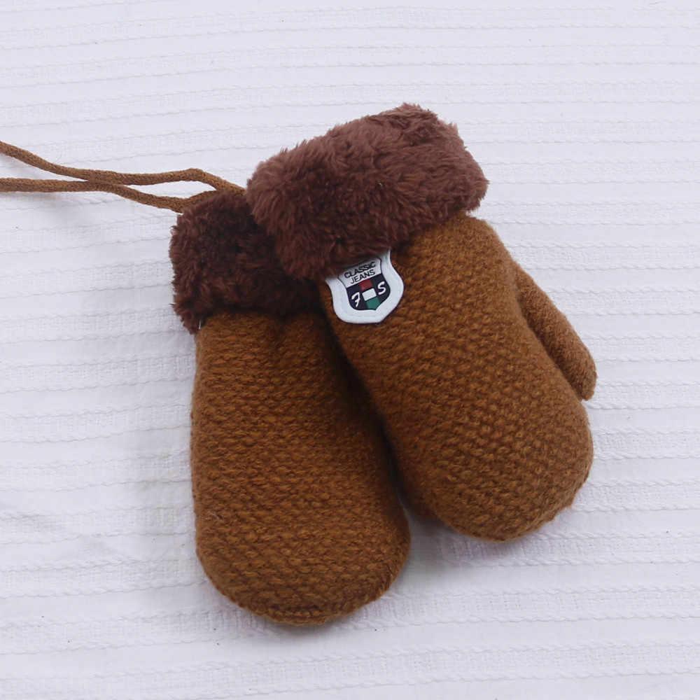 ถักแคชเมียร์ถุงมืออุ่นสำหรับผู้หญิง deri eldiven การ์ตูนเย็บปักถักร้อยนวมเด็กทารกน่ารักสาวอุ่นเด็ก