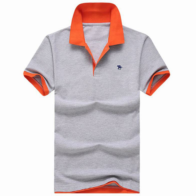 S-3XL 2019 Summer New Men's short sleeve   polos   shirts casual cotton mens lapel   polos   shirts fashion mens slim tees male tops