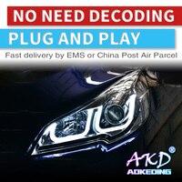 AKD tuning cars Headlight For Sabaru Outback Legacy Headlights LED DRL Running lights Bi Xenon Beam Fog lights angel eyes Auto