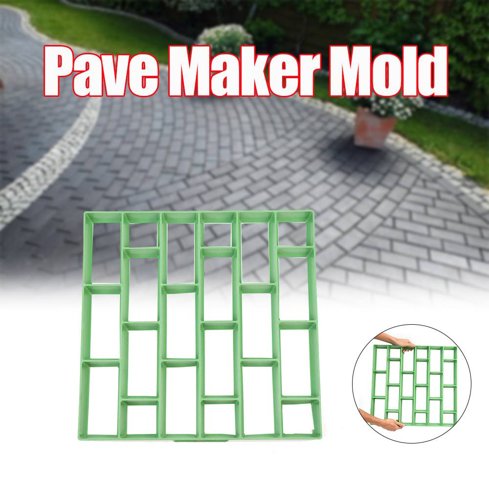 500x500x45mm Large DIY Pave Maker Mold Plastic Garden Stone Driveway Paving Brick Mold PP Garden House Floor Tile Mould