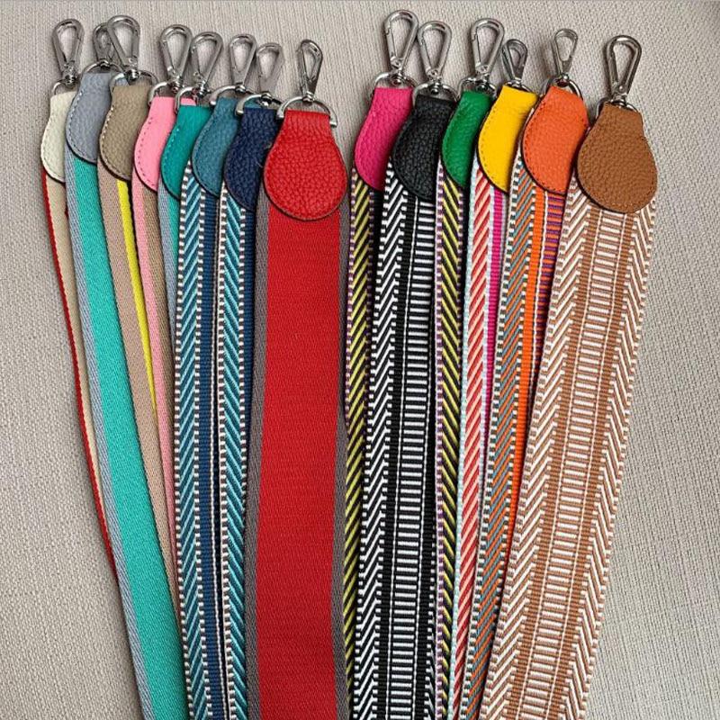 Knitting Wide Bag Strap Leather Fashion Bags Shoulder Belt Bag Accessory Silver Buckle Brand Designer