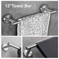 Набор из 3 предметов для ванной комнаты из нержавеющей стали  Круглый настенный-включает в себя ручное полотенце  держатель для туалетной бу...