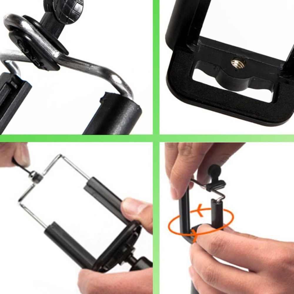 Trípode de diseño Universal retráctil para teléfono móvil monopod U Clip soporte de montaje soporte de abrazadera de Clip móvil para Smartphone