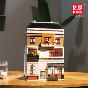 Image 2 - MOC Creator Crystal House Bricks City Street Series Model Building Blocks Toys For Children Compatible With lepining 10224 Gifts
