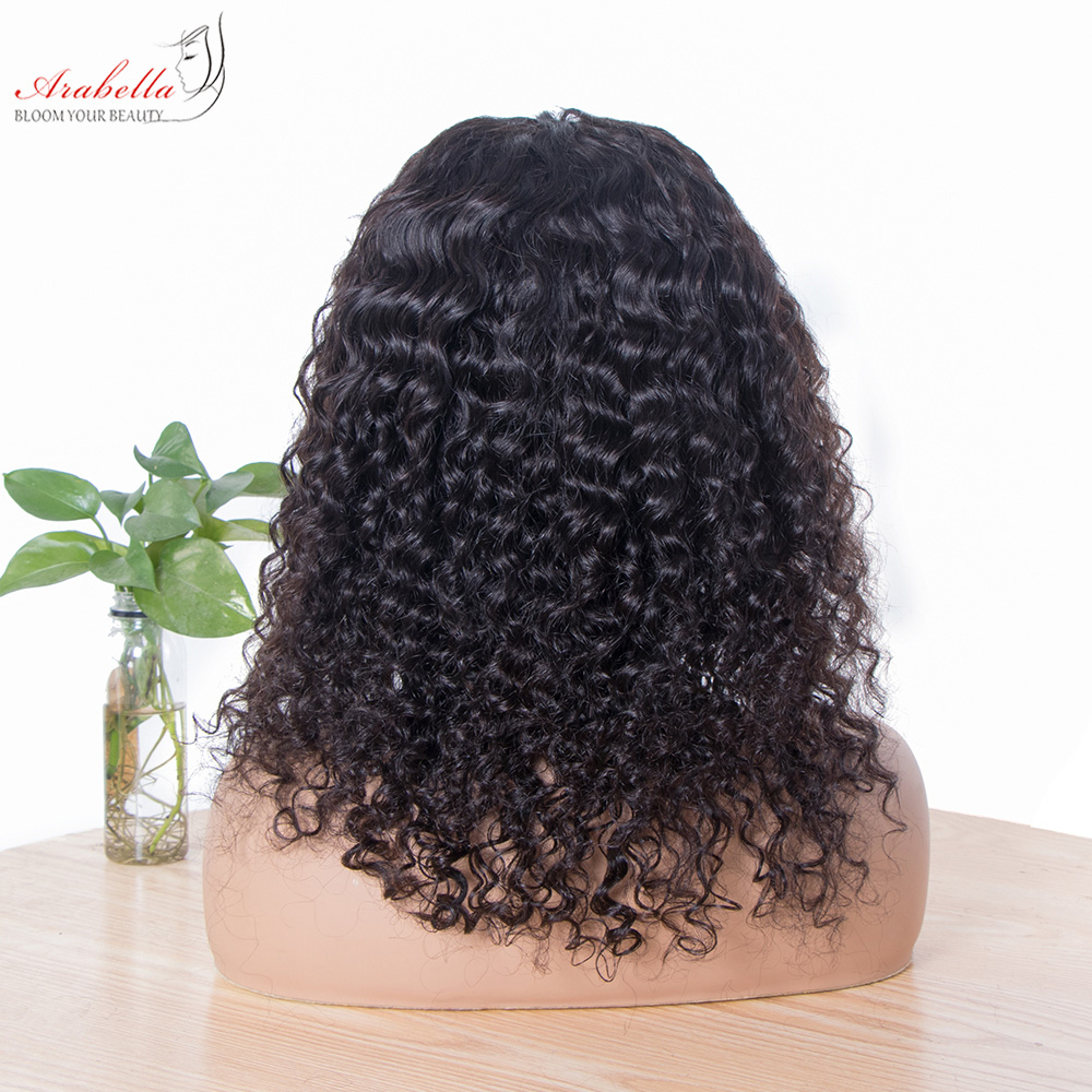 Deep Wave Lace Front Wig 100%  Wigs With Baby Hair PrePlucked Arabella  Hair Wig 13x4 Lace Front Wig 4