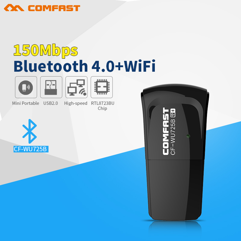 Mini 150Mbps Wireless Network Card 802.11n Wifi Adapter Mini Usb Wi-fi Receiver Bluetooth 4.0 Wi Fi Dongle Lan Adaptador
