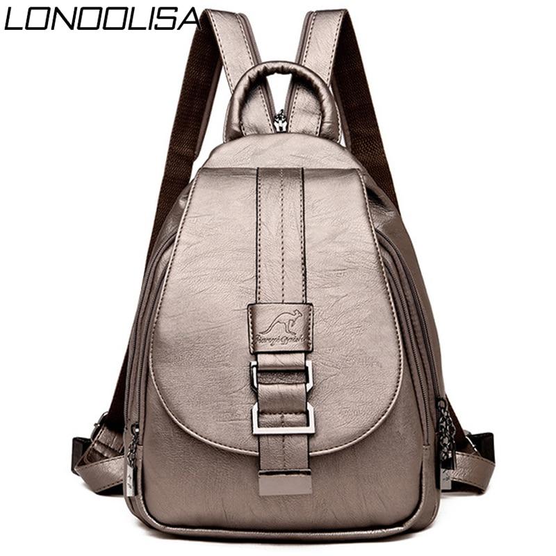 Summer Back Pack 2020 Women Leather Backpacks Chest Bag Bagpack Ladies Travel Backpack Mochilas School Bags For Teenage Girls