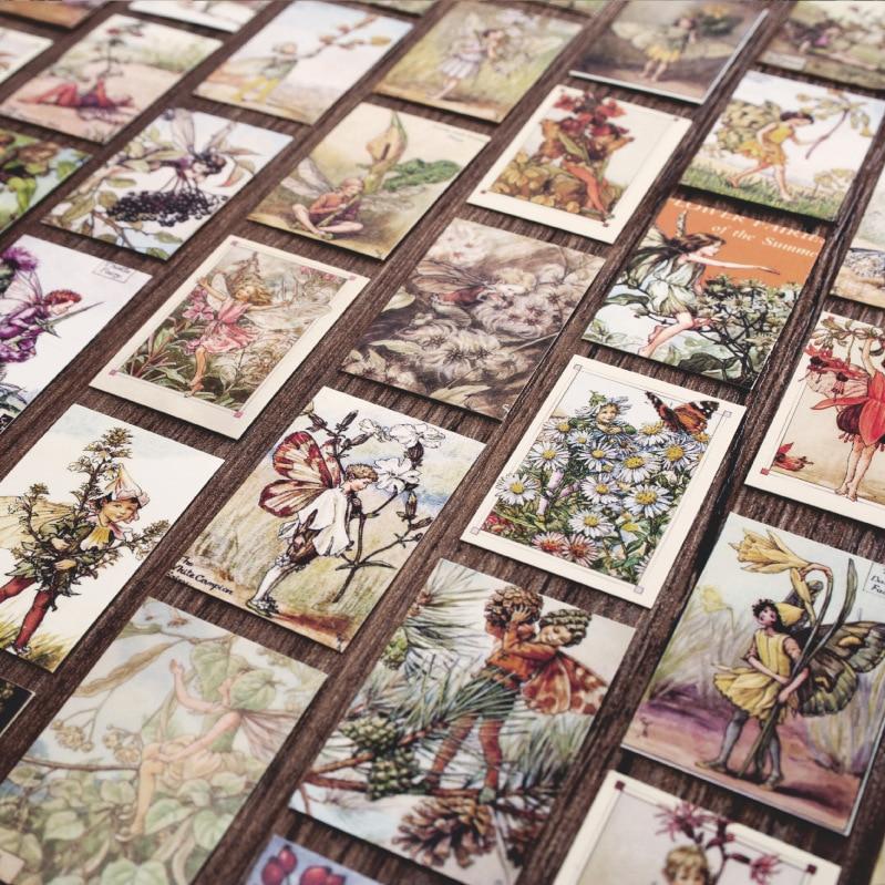 100 Pcs/set Vintage Memo Pad 35*50mm Mini Card Flower Van Gogh DIY Scrapbooking Bullet Journal Planner Christmas Gifts For Kids