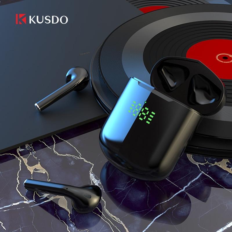 KUSDO TWS Led Wireless Headphones HiFi Stereo Earbuds Bluetooth Earphone Headset PK air 3 pro i9000 air 2 For Android iOS Xiaomi(China)