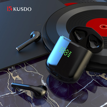 KUSDO TWS Led Wireless Headphones HiFi Stereo Earbuds Bluetooth Earphone Headset PK air 3 pro i9000 air 2 For Android iOS Xiaomi