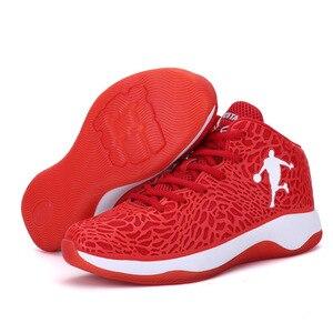 Image 2 - Homem leve tênis de basquete respirável anti derrapante tênis de basquete masculino laço up esportes ginásio ankle boots sapatos cesta homme