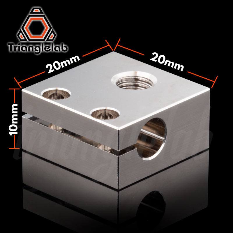 cheapest trianglelab Swiss CR10 Plated Copper Heat Block For CR10 Hotend cr-10 Hotend for mk8 nozzle BMG Extruder ender3 cr-10s