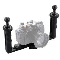 Diving Camera Stabilizer Underwater Grip Handheld Holder Double Arm Tray Support Stabilizer Holder Cage Selfie Mount For GoPro