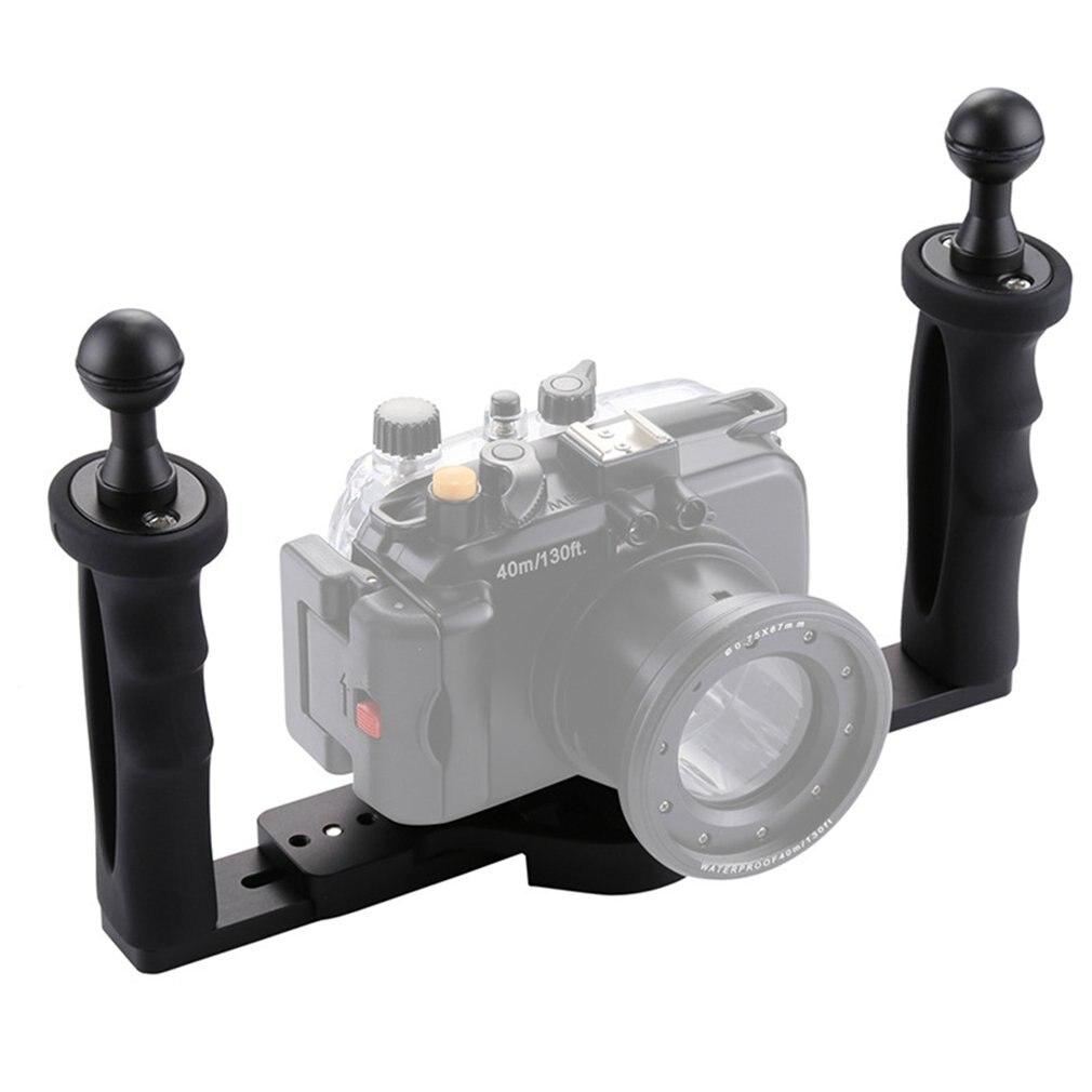 Plongée Stabilisateur De Caméra Sous-Marine Poignée Support de poche À Double Bras Plateau Support Stabilisateur cage de Support Selfie Pour GoPro