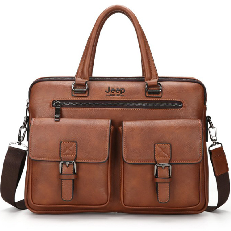 Computer Bag 14 Inch Men Handbag Messenger Black Brown Briefcase Men 13 Brown Leather Bag For Men Mens Work Bags