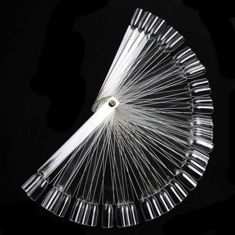 1 مجموعة = 50 قطعة أظافر صناعية نصائح مروحة طبيعة الفن غطاء كامل عرض ممارسة أدوات الأظافر وهمية مانيكير جل الأشعة فوق البنفسجية من الإكليريك البولندية