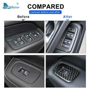 Image 4 - FLUGGESCHWINDIGKEIT für VOLVO XC60 S60 V60 Zubehör 2018 2019 2020 Carbon Faser Auto Tür Fenster Switch Panel Cover Aufkleber Innen trim