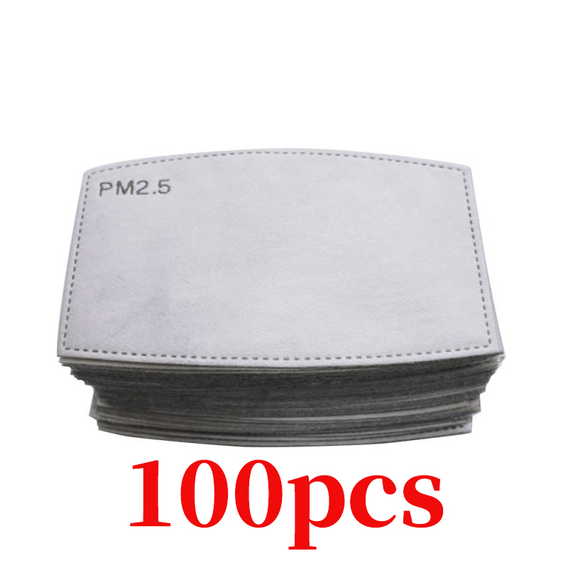 PM2.5 Filter Paper Anti Haze Proof Mouth Mask Replacement Anti Dust Anti Pollution Motorcycle Face Mask Protective Filter Paper