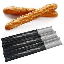 Acier au carbone 4 fentes 3 fentes 2 fentes vague pain français plateau de cuisson pour Baguette moule de cuisson Pan cuisine antiadhésive Baguette moule