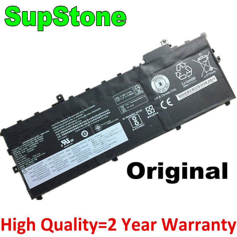 SupStone Genuine 01AV430 01AV431 01AV494 Laptop Battery For Lenovo ThinkPad X1 Carbon 5th Gen 2017,6th Gen 2018,X1C,SB10K97586 image