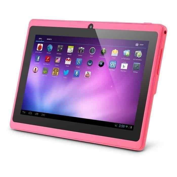 WIFI 7 zoll Baby Kinder Tragbare Lernen Tablet Dual Kamera 8GB Android 4,0 Kind Computer Kinder Laptop Rosa