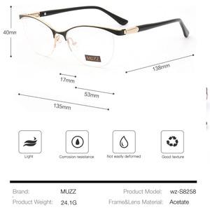 Image 4 - 猫の目のスタイル女性の光学ガラスは金属メガネフレーム女性処方眼鏡クリア近視2021コンピュータ眼鏡