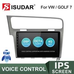 Автомагнитола ISUDAR V57S, мультимедийный плеер на Android, с GPS, видеорегистратором, ОЗУ 2 Гб, ПЗУ 32 ГБ, для VW/Volkswagen/Golf 7, типоразмер 2 din