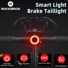 ROCKBROS Fahrrad Rücklicht Fahrrad Bremse Smart Sensor Licht LED USB Aufladbare Wasserdichte MTB Bike Warnung Hinten Licht Intelligente