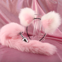 Sexy Fox Tail Metal Butt Anal Plug and Cute Soft Cat ears Headbands Erotic Cosplay Adult Sex Toys Couples Adult Night Party Game