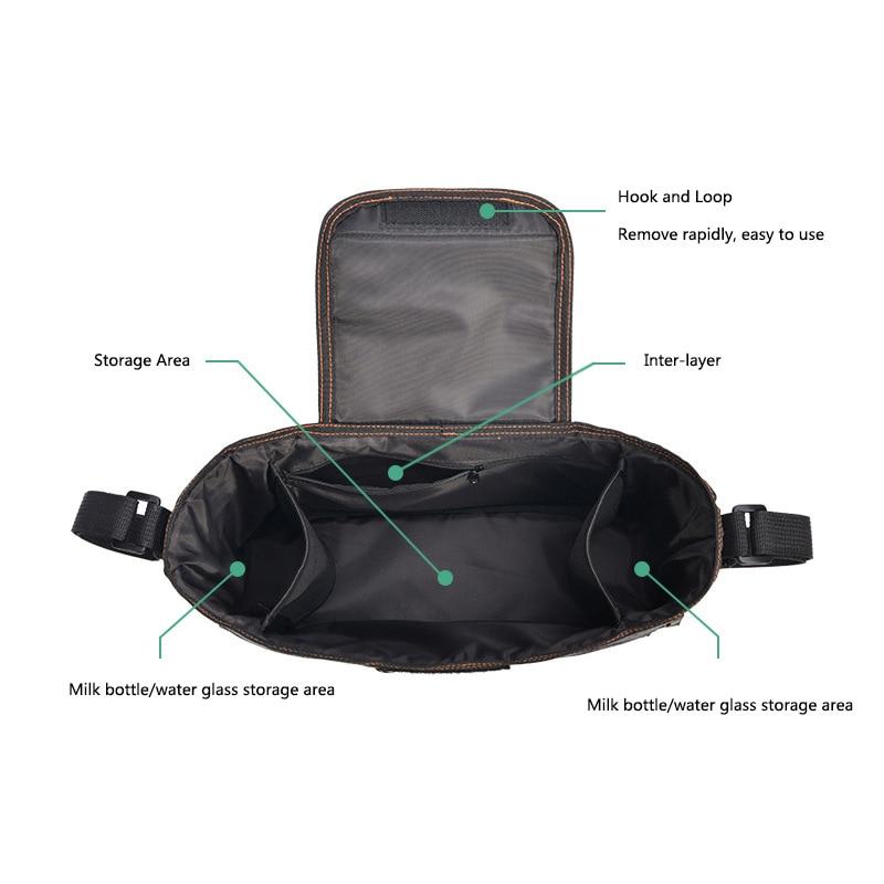 H2fc87b6031e24645b712ee7c05ccbf30T Baby Stroller Organizer Nappy Bag Mummy Waterproof Hanging Carriage Bottle Bag Handbag Pram Buggy Cart Organizer Diaper Bag