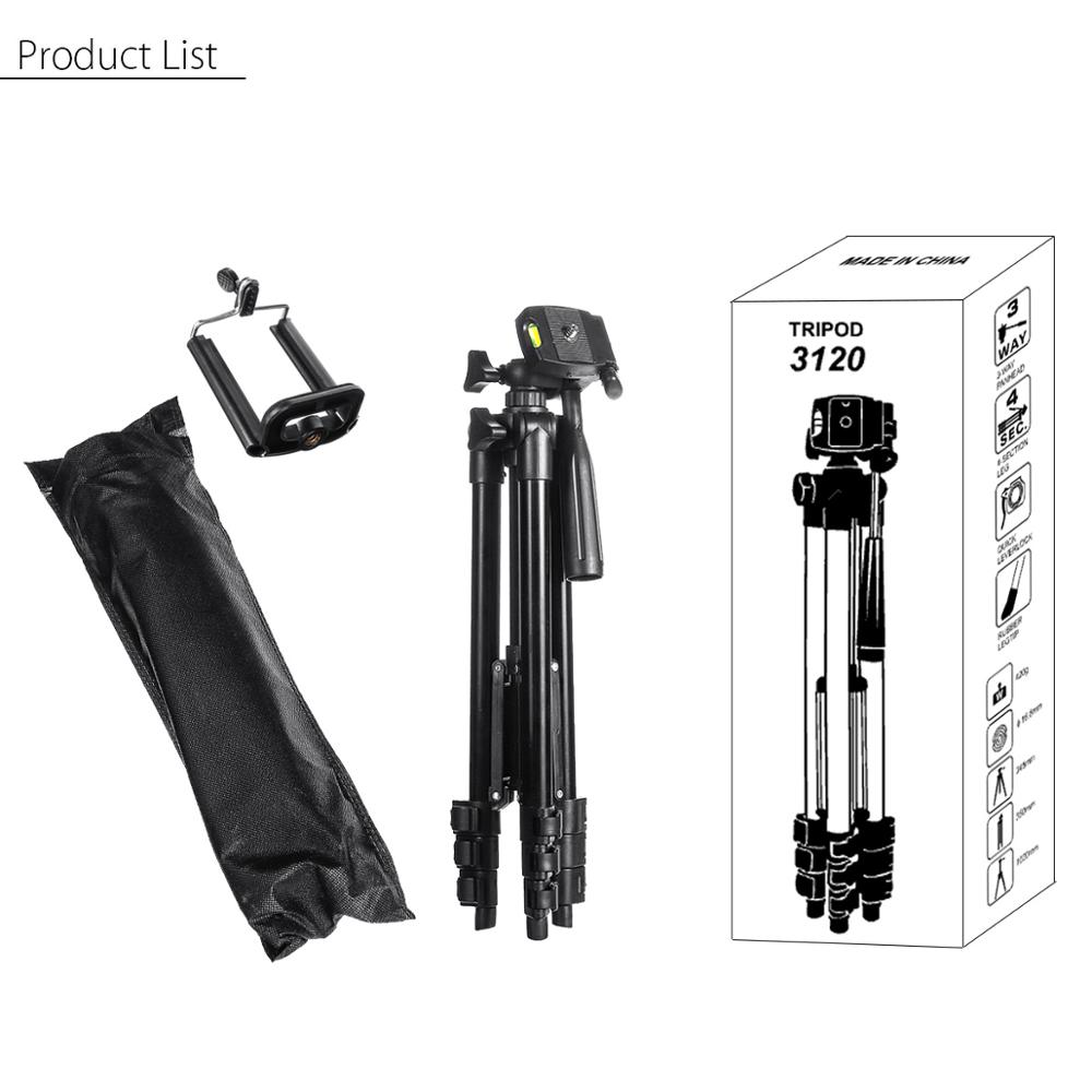 Extendable 36-100cm Universal Adjustable Tripod Stand Mount Holder Clip Camera Phone Holder Bracket For Cell Phone Camera 5