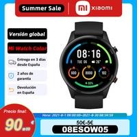 Versión global, Xiaomi Mi Watch Color Blood Oxygen GPS Bluetooth 5.0 Fitness Heart Rate Tracker, Sleep Monitor, 1.39 inch AMOLED, Mi Smart Watch 5€code:07ESOW05