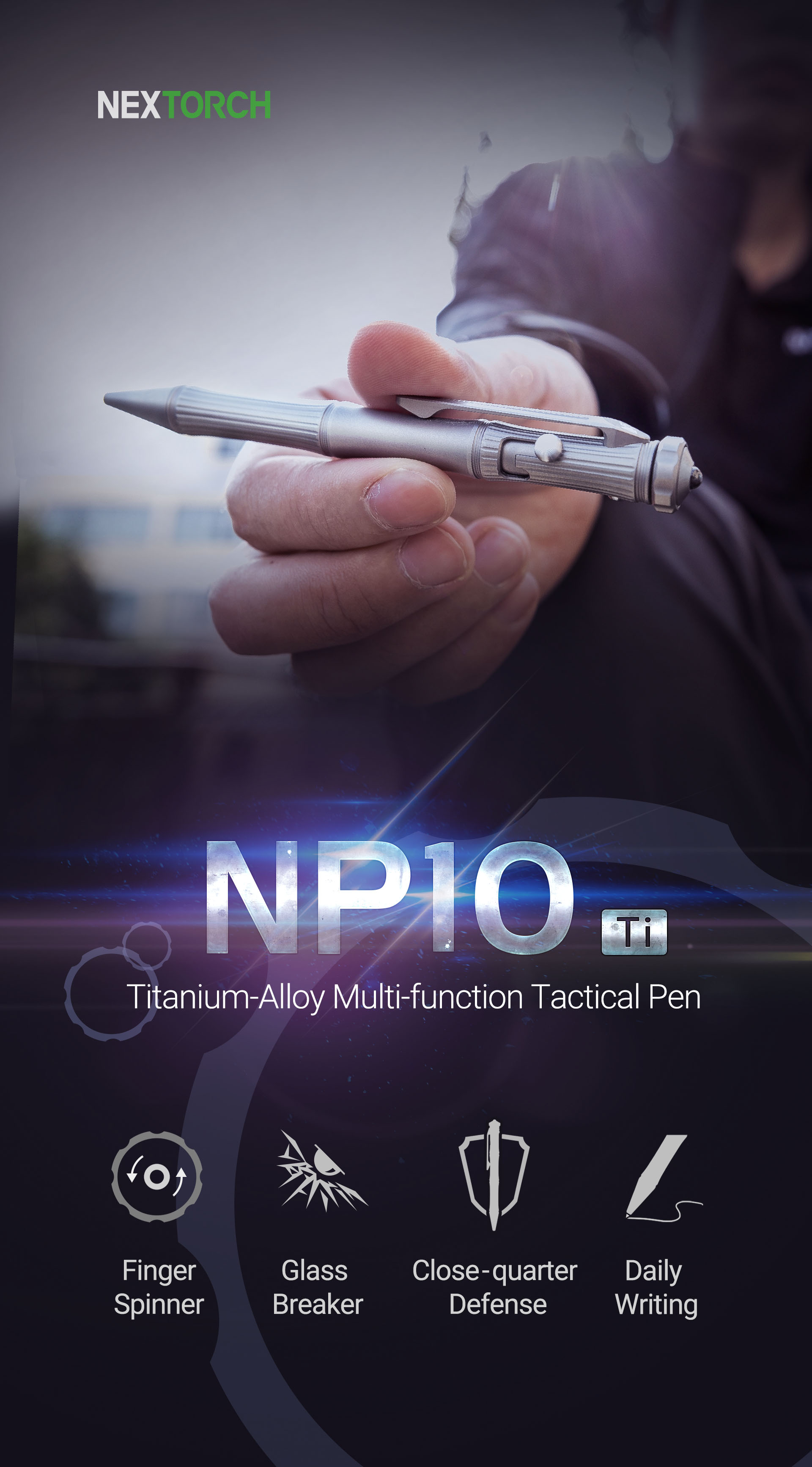 Titanium Pen Alloy Clip Multifunction For Carry EDC Writing Easy Tool NEXTOOL Exquisite Smooth Lightweight