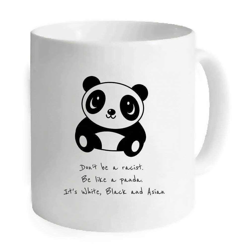 Be Like A Panda White Mug Coffee Mug Tea Cup Personalized Gift For Birthday Christmas 11 OZ