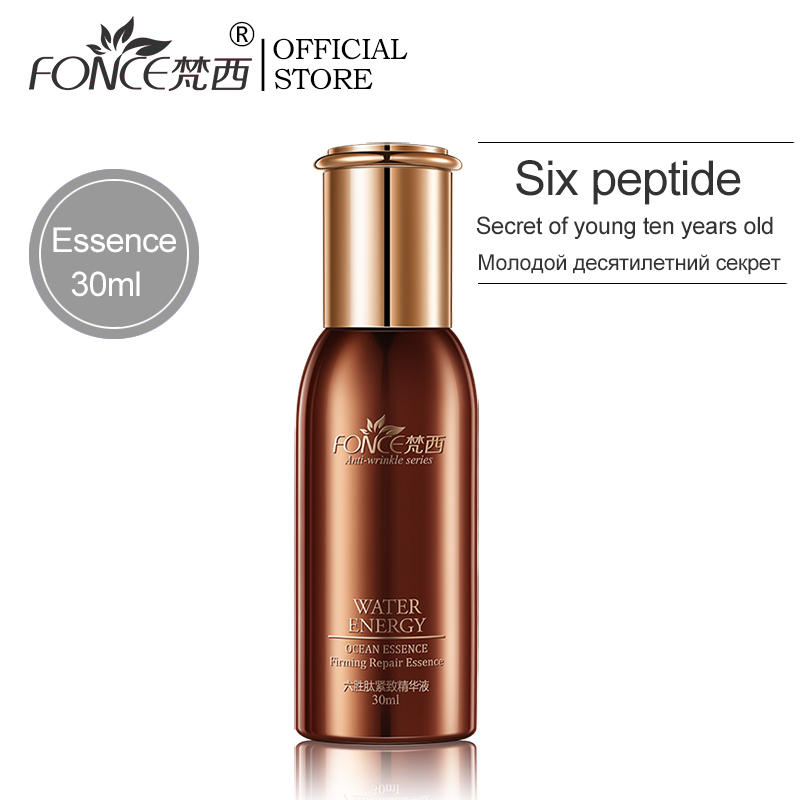 Fonce Six Peptides Face Anti Wrinkle Essence Moisturizing Lifting Firming Facial Serum Anti Aging Ageless Nourish Skin Care