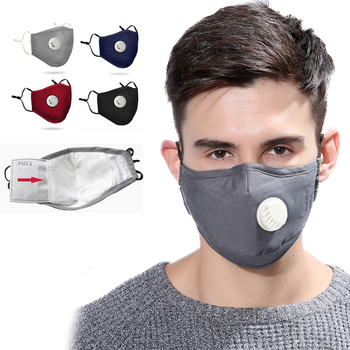 5pcs 10pcs 20pcs PM2.5 Mouth Mask Dust Respirator Washable Reusable Masks Cotton Unisex Mouth Muffle Anti-fog Activated carbon