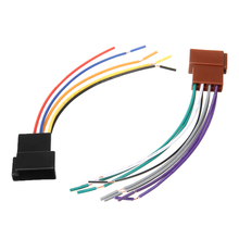 12V 16CM Universal Car Stereo Female ISO Radio Plug Adapter Wiring Cable Stereo Harness for Power/Illumination/Power Antenna special wiring harness for toyota prado iso harness car radio power adaptor power cable radio plug
