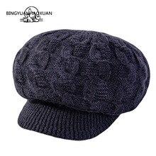 Брендовый качественный женский берет из кроличьей шерсти вязаная шапка осенне-зимняя шапка Модные женские береты