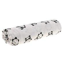 Baumwolle Lange Neue geboren Swaddle Decke schlafsack 110 cm x 110 cm - Panda