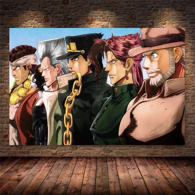 Unframed JoJo s Bizarre Adventure Japan Anime Cartoon Poster and Prints Canvas Painting Art Wall Pictures Living Room Home Decor