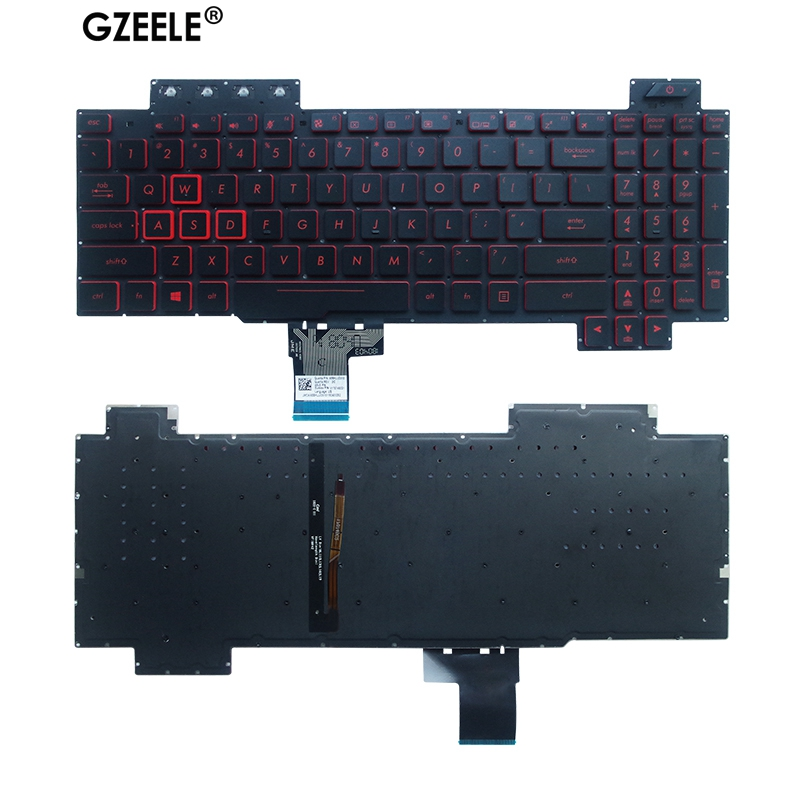 NEW US Laptop Keyboard FOR ASUS FX80 FX80GE FZ80G ZX80G FX86 FX86S FX86F FX504 US Laptop Keyboard Backlit