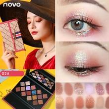 Novo 16 Colors Chain Bag Eyeshadow Palette Glitter Shimmer Matte Pigmented Eye S