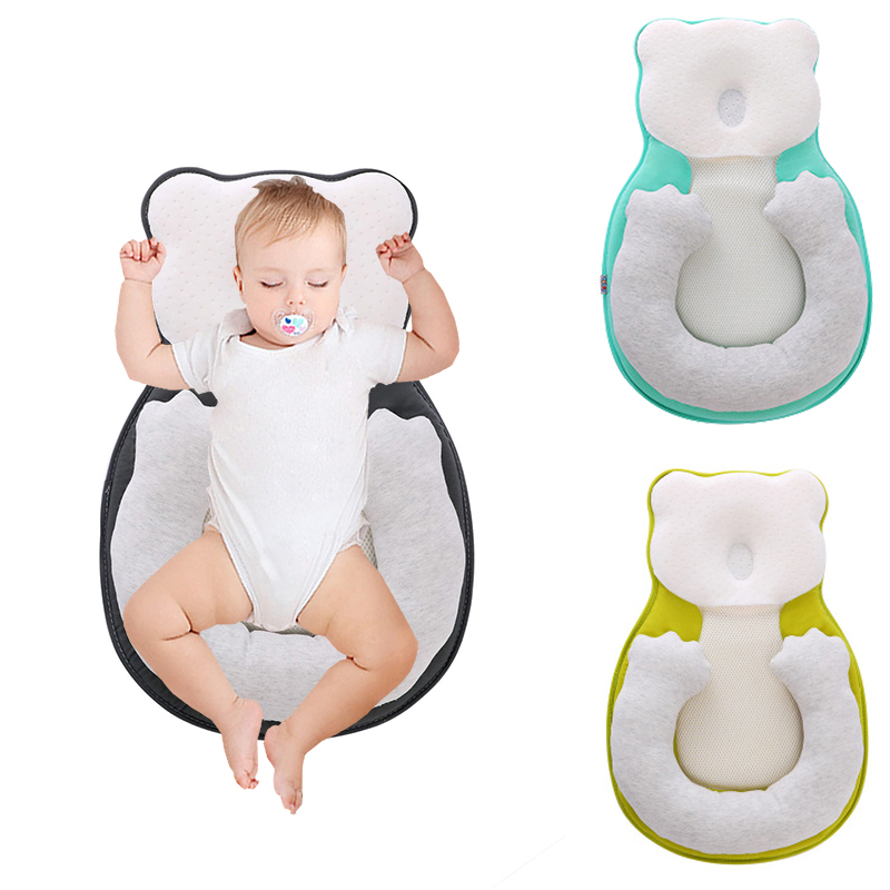 Anti-roll Baby Pillow Infant Sleep Positioner Cushion Newborn Prevent Flat Head  For Toddler Baby Crib Cradle Cot Nest Bassinet
