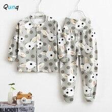 Girls Nightwear Children Pajamas Animal-Pattern Suits Clothing-Set Kids Sleepwear Baby