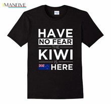 2019 Cotton Tee Shirt Homme Fitness Have No Fear The Kiwi Is Here Pride Tshirt Proud New Zealand design T-Shirt