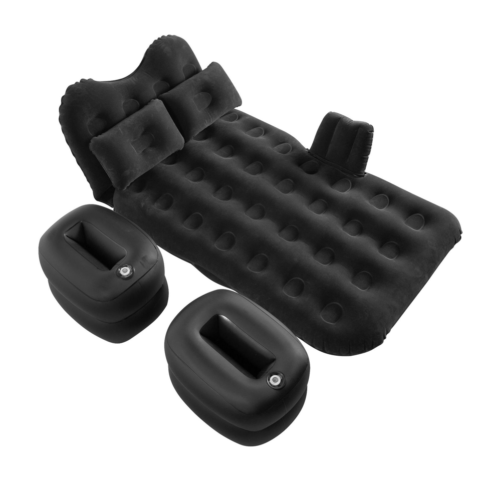 Multifunctional Inflatable Car SUV MPV Bed Back Seat Air Folding Mattress Rest Sleeping Camping With Pillows Black HJ-39