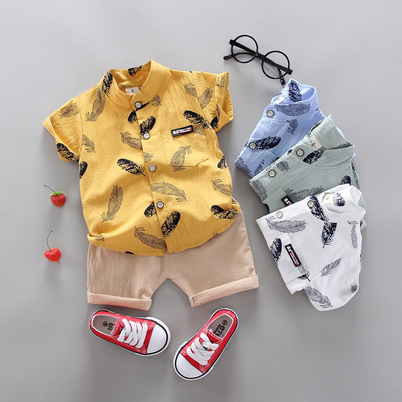 Boy Clothing Casual  Baby Girl's Summer Clothes   Set Sports shirt+ Shorts Suits  Clothes Cotton products Kids clothes 6
